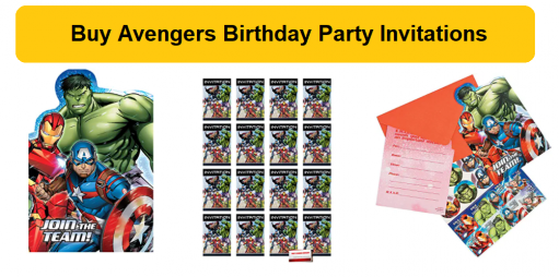 gallery/avengers party invitations